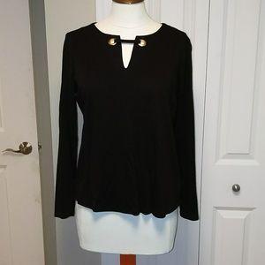 Michael kors long sleeve black t-shirt blouse
